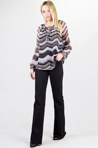 DVF Saylor Multicoloured Silk Blouse / Size: 6 US - Fit: S / M