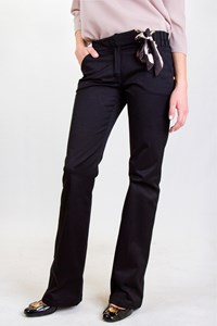 Roberto Cavalli Black Cotton Pants with Scarf / Size: 38 IT - Fit: XS / S