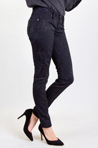 Genetic Denim Black Textured Cotton Pants / Size: 25 - Fit: XS / S