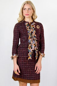 Dolce & Gabbana Multicoloured Tweed Set with Skirt and Jacket / Fit: S