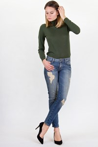 Siwy Blue Hannah Skinny Distressed Jeans / Size: 26 - Fit: XS / S
