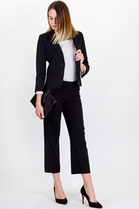 Juicy Couture ¾ Sleeves Black Wool Blazer / Size: S - Fit: XS / S
