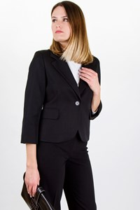 Juicy Couture ¾ Sleeve Black Wool Blazer / Size: S - Fit: XS / S