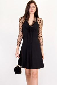 Blumarine Black Dress with Transparent Sleeves / Size: 42 IT - Fit: S