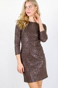 alice + olivia Taupe Sequin Dress / Size: ? - Fit: S