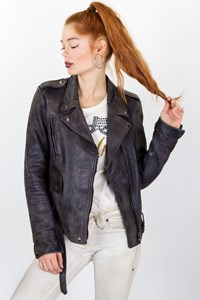 Golden Goose Grey Leather Jacket / Size: M - Fit: XS / S