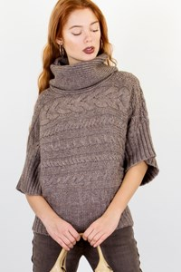 Caroll Beige Wool Knitted Blouse / Size: 1 - Fit: S