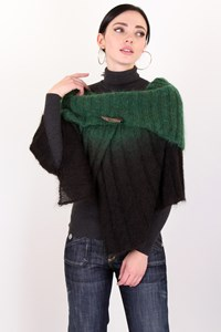 Hybris Ombré Brown - Green Knitted Cape / Size: 3 - Fit: S/M