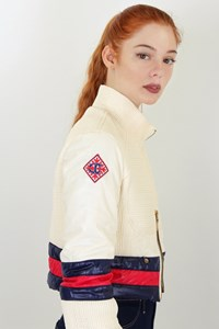 Just Cavalli Ecru Short Quilted Jacket / size: XS - Fit: True to size