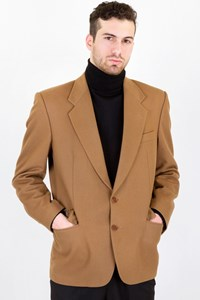 Carouzos Tan Wool Blazer / Size: ? - Fit: M