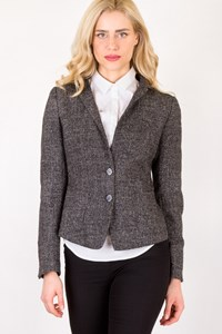 Les Copains Grey Tweed Blazer / Size: ? - Fit: S