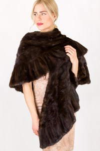 Fur Brown Mink Fur Stole