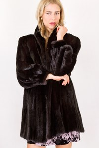 Fur Black Diamond Fur Mink Coat / Size: ? - Fit: S / M