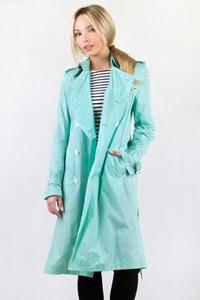 Burberry London Mint Waterproof Trench Coat / Size: 10 UK - Fit: S