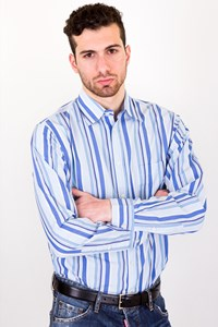 Zegna Sport Striped Cotton Shirt / Size: M - Fit: True to size