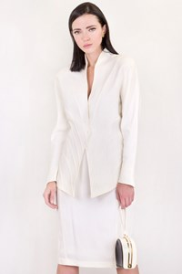Thierry Mugler Vintage White Jacket and Skirt Suit / Size: 42 IT - Fit: S