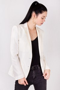Dolce & Gabbana White Silk Waisted Blazer / Size: 38 IT - Fit: XS
