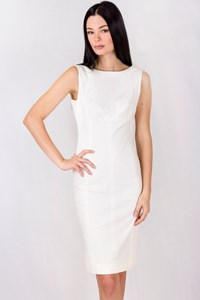 Dolce & Gabbana White Cotton Bodycon Dress / Size: 40 ΙΤ - Fit: XS