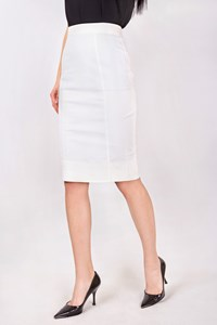 Dolce & Gabbana White stretch Cotton Pencil Skirt / Size: 38 - Fit: XS
