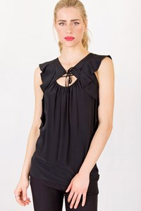 Vanessa Bruno Black Lightweight Top / Size: ? - Fit: S