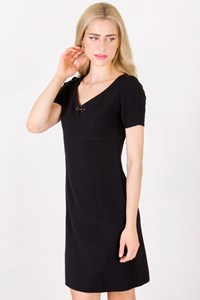 Fay Black Short Sleeve A-line Dress / Size: M - Fit: S