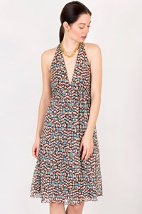 DVF Tricolor Silk Printed Dress / Size: 44 IT - Fit: S
