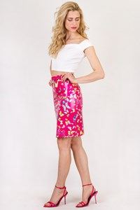 D&G Multicoloured PVC Pencil Skirt / Size: 40 IT - Fit: XS