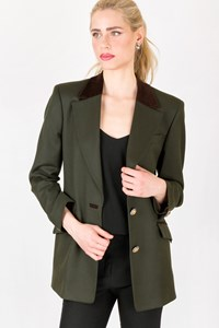 Les Copains Forest Green Wool Blazer / Size: 42 IT - Fit: S