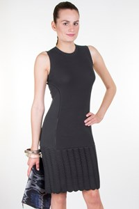 MCQ Mouse Grey Tiered Knitted Dress