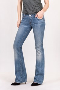 Victoria Beckham Blue Distressed Bootcut Jeans / Size: 27 - Fit: XS / S