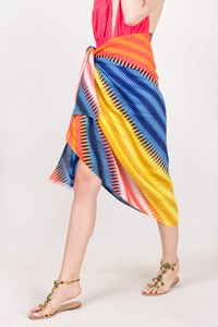 DVF Multicolour Linen Pareo-Cover Up