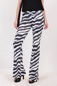 Emilio Pucci White-Blue Striped Wide Pants / Size: 38 IT - Fit: XS