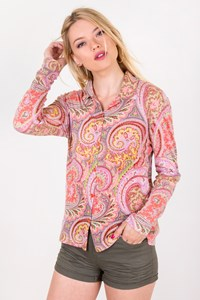 Etro Multicolour Elasticated Paisley-Print Shirt / Size: 40 IT - Fit: XS / S