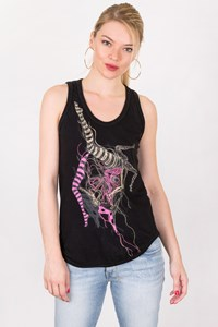 Alexander McQueen Black Cotton Top with Print / Size: 38 IT - Fit: XS / S