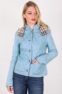 Burberry London Light Blue Quilted Lightweight Jacket / Size: 8 UK - Fit: XS / S