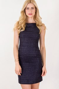 Tory Burch Navy Blue Dress with Silver Thread / Size: 2 US - Fit: S