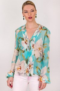 Cacharel Multicolour Floral Silk Blouse / Size: 38 IT - Fit: S