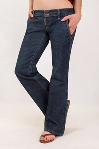 Dsquared2 Dark Blue Bootcut Jeans with Slant Pockets / Size: 46 IT - Fit: L