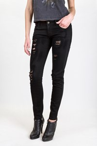 Siwy Black Hannah Distressed Jeans / Size: 25 - Fit: XS / S