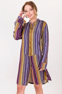Etro Multicoloured Striped Tunic Shirt / Size: 44 IT - Fit: S