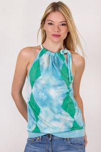 Iceberg Multicolour Knitted Halter Neck Top / Size: XS - Fit: XS / S