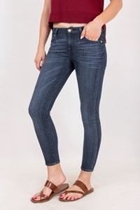 Seven for all Mankind Blue Cropped Skinny Jeans / Size: 24 - Fit: XS