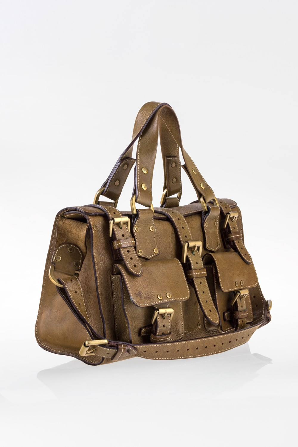 a4af23b2eac Khaki Mini Roxanne Leather Tote Bag, Totes, Buy Handbags, Bags, Starbags  Products, Starbags.gr