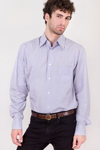 Dolce & Gabbana Light Blue-Lilac Cotton Shirt / Size: 16½/42 - Fit: M/L