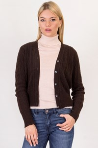 Cashmere Studio Brown Cashmere Knitted Cardigan / Size: S - Fit: XS / S