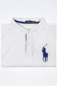 Polo Ralph Lauren Men's White Cotton Pique Polo Shirt / Size: XXXXLARGE