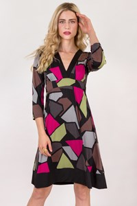 Bianco Levrin Multicoloured A-Line Dress / Size: S - Fit: True to size