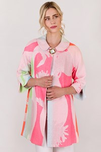 Milly Multicolored Coat with Metallic Thread / Size: 4 US - Fit: S / M
