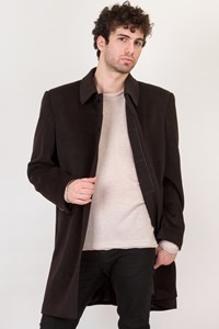 Ermenegildo Zegna Dark Brown Cashmere Coat / Size: 50 IT - Fit: L