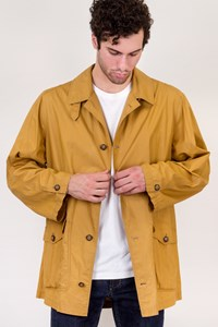 FRANCESCO SMALTO Mustard Cotton Lightweight Jacket / Size: 52 IT - Fit: L